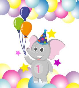 elephant holding balloon gifts on zazzle