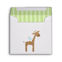 Cute Birthday Giraffe Envelope