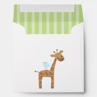 Cute Birthday Giraffe Envelope