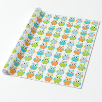 Cute Birthday Owl Wrapping Paper