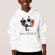 Cute Birthday Panda with Cake Hoodie