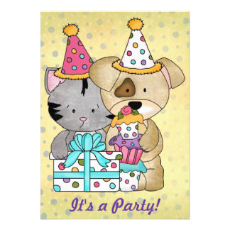 Cute Birthday Party Announcement