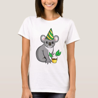 Cute Birthday Party Koala with Cupcake Shirt