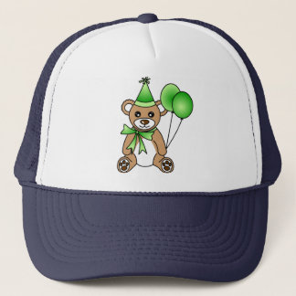 Cute Birthday Teddy Bear - Green Trucker Hat