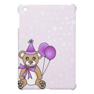 Cute Birthday Teddy Bear - Purple iPad Mini Case