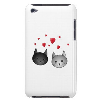 Cute Black and Gray Cats, with Hearts. Barely There iPod Case