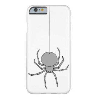Cute Black and Gray Spider on a Thread Barely There iPhone 6 Case