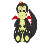 Cute Black And Red Dragon Photo Cut Outs