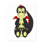 Cute Black And Red Dragon Postcards