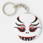 cute black and red vampire graphic key chain