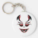 cute black and red vampire graphic keychains