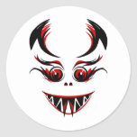 cute black and red vampire graphic sticker