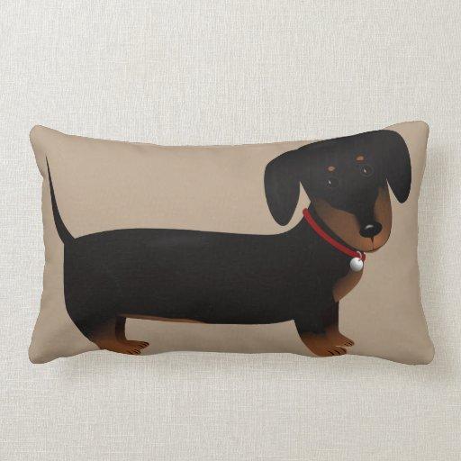Cute Black Pillows : Cute Black and Tan Doxy Throw Pillow Zazzle