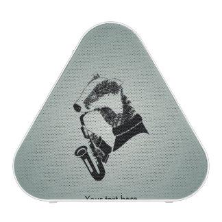 Cute Black and White Badger Sax Customizable Bluetooth Speaker