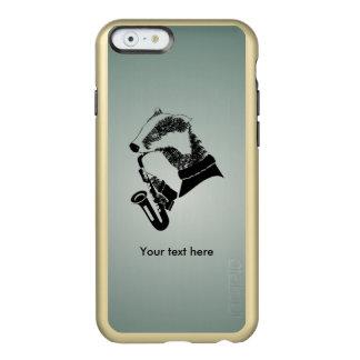 Cute Black and White Badger Sax Customizable Incipio Feather® Shine iPhone 6 Case