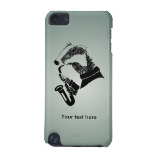 Cute Black and White Badger Sax Customizable iPod Touch (5th Generation) Case