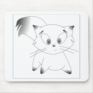 Cute black and white cartoon cat design mouse pad