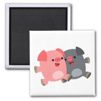 Cute Black and White Cartoon Pigs Magnet Refrigerator Magnets