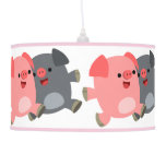 Cute Black and White Cartoon Pigs Table Lamp