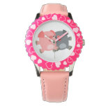 Cute Black and White Cartoon Pigs Watch