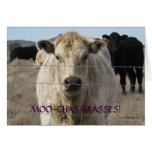 Cute Black and White Cow Thank You - Ranch or Farm Greeting Card
