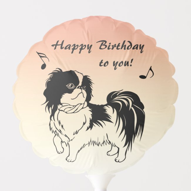 Cute Black and White Dog Birthday Balloon