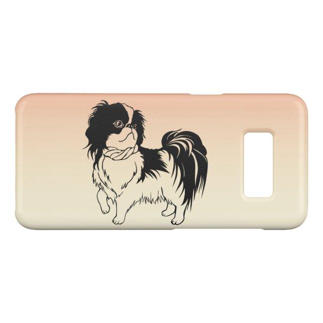 Cute Black and White Dog Orange Galaxy S8 Case