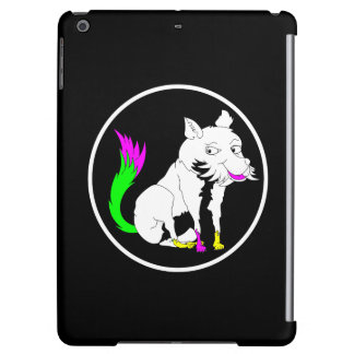 Cute Black and White Fox With a Colorful Tail iPad Air Cases
