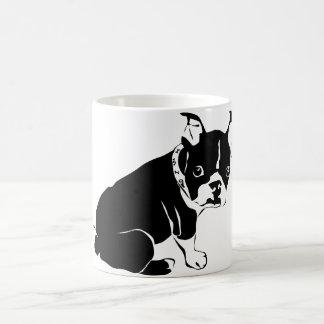 Cute Black and White French Bulldog Puppy Coffee Mug
