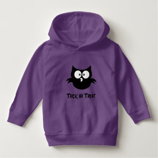 Cute Black And White Halloween Trick Or Treat Owl Hoodie