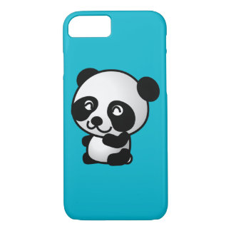 Cute black and white happy panda bear iPhone 7 case
