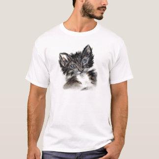 Cute Black and White Kitten T-Shirt