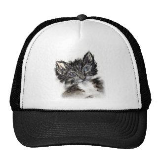 Cute Black and White Kitten Trucker Hat