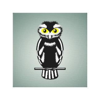 Cute Black and White Owl Canvas Print