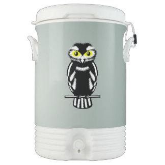 Cute Black and White Owl Igloo Beverage Dispenser