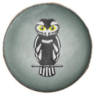 Cute Black and White Owl Chocolate Dipped Oreo