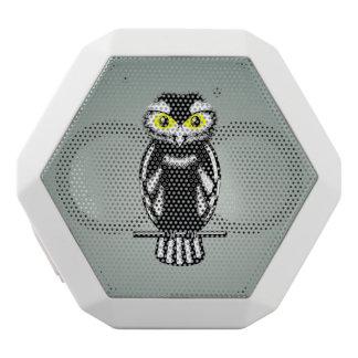 Cute Black and White Owl White Bluetooth Speaker