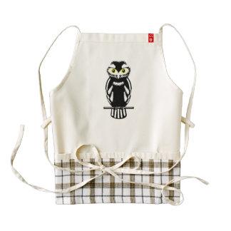 Cute Black and White Owl Zazzle HEART Apron