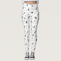 Cute Black and White Owls Leggings