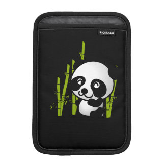Cute black and white panda bear in a bamboo grove. iPad mini sleeve