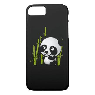 Cute black and white panda bear in a bamboo grove. iPhone 8/7 case