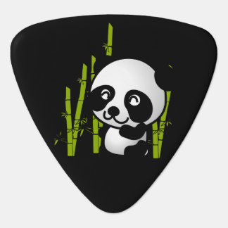 Cute black and white panda bear in a bamboo grove pick