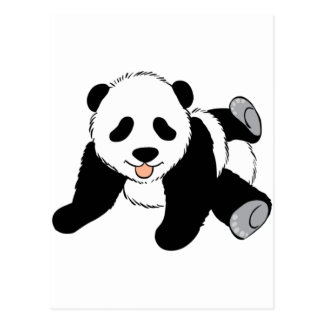 Cute Black and White Panda Bear Lover Gift Present Post Cards