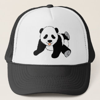 Cute Black and White Panda Bear Lover Gift Present Trucker Hat