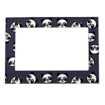 Cute Black and White Panda Cartoon Pattern Magnetic Photo Frame