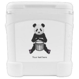 Cute BLack and White Panda Drummer Cooler