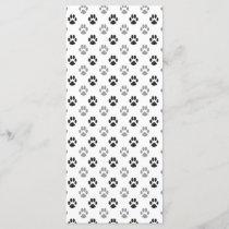 Cute Black And White Paw Prints Pattern