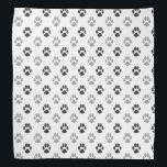 """Cute Black And White Paw Prints Pattern Bandana<br><div class=""""desc"""">Cute Black And White Paw Prints Pattern</div>"""