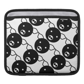 Cute Black and White Pig Face Cartoon Pattern iPad Sleeves