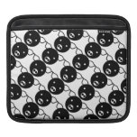 Cute Black and White Piggy Faces Cartoon Pattern iPad Sleeve